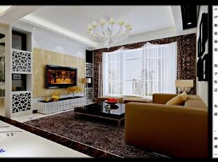 ,120平,8万,三居,现代,客厅,黑白,