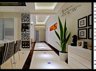 ,120平,8万,三居,现代,餐厅,黑白,