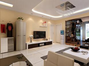 ,110平,10万,混搭,两居,客厅,白色,