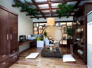 ,110平,10万,混搭,两居,客厅,原木色,