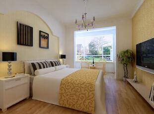 ,110平,10万,混搭,两居,卧室,黄色,
