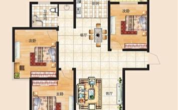 上东城115平方三室...