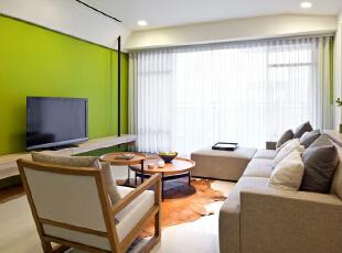 ,155平,20万,现代,三居,客厅,绿色,白色,
