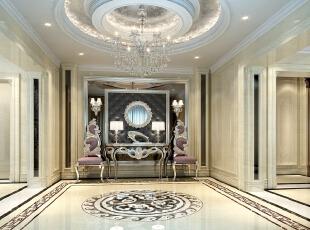 ,170平,50万,新古典,别墅,客厅,白色,