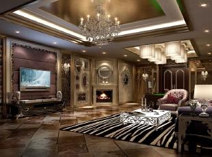 ,170平,50万,新古典,别墅,客厅,原木色,