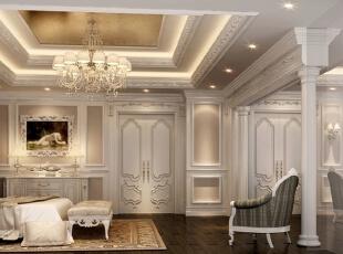 ,170平,50万,新古典,别墅,卧室,白色,