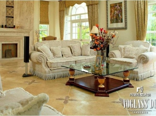 ,674平,10万,美式,别墅,客厅,原木色,白色,