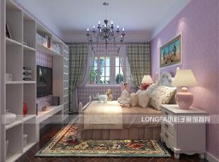 ,90平,6万,欧式,两居,粉色,卧室,儿童房,原木色,
