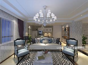 ,90平,6万,欧式,两居,客厅,白色,黑白,