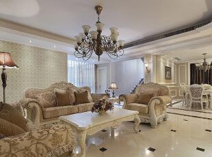 ,269平,50万,欧式,别墅,客厅,白色,