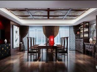 天津尚层__别墅设计,500平,120万,中式,别墅,客厅,原木色,