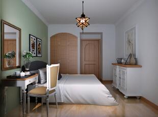 ,88平,9.5万,中式,两居,卧室,绿色,
