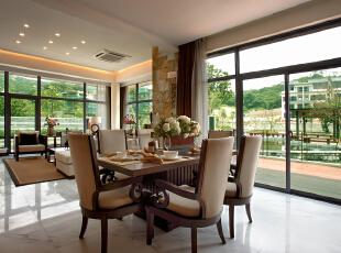 ,191平,24万,现代,两居,餐厅,原木色,