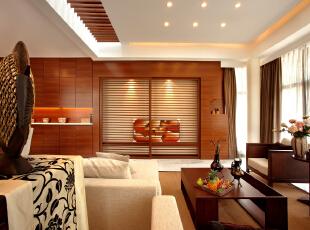 ,191平,24万,现代,两居,客厅,原木色,