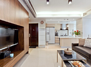 ,120平,24万,现代,三居,客厅,原木色,