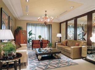 ,130平,9万,现代,三居,客厅,原木色,