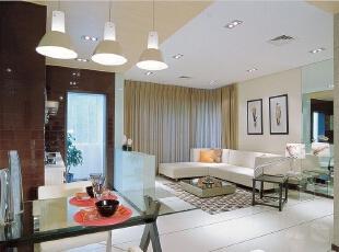 ,130平,9万,现代,三居,客厅,白色,