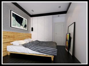 ,90平,8万,两居,现代,卧室,黑白,
