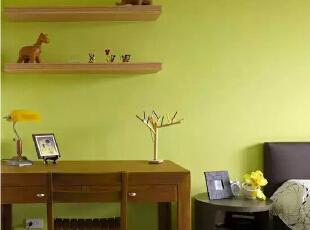 设计重点:鲜明的跳色    编辑点评:对比鲜明的跳色演出,为空间揉入一份北欧浪漫绮想。,121平,现代,四居,卧室,儿童房,绿色,