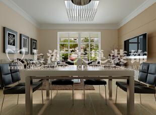 润城86平现代简约装修两室两厅餐厅效果图,现代感十足,86平,6万,现代,两居,
