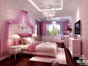 ,600平,90万,混搭,别墅,卧室,粉色,