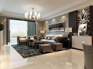 客厅采用灰色系的沙发,多出运用了壁纸和笔画的配饰更能体现出后现代风格的特色,背景墙在色彩上形成一二层的完美统一,渲染出客厅的简单大方,沙发背景墙上的精美装饰画更能体现出客厅大气温和的气氛。,182平,15万,现代,四居,客厅,黑白,