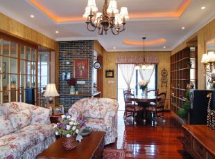 ,美式田园风格,装修风格,装修设计,别墅软装设计,客厅,原木色,
