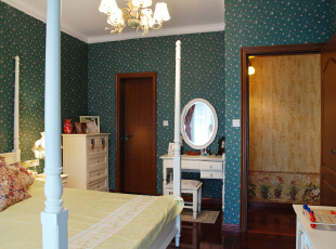 ,卧室,绿色,