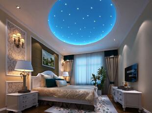 卧室地板选用实木地板,简约而不失高雅。壁纸选用米黄色,于整体格调相呼应。整个空间宽敞明亮,张显简约大气之风。进入卧室心情一片舒然。忘掉烦恼,很快进入甜蜜的梦乡,138平,11万,欧式,三居,卧室,黑白,
