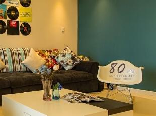 ,150平,7万,现代,三居,客厅,绿色,黑白,