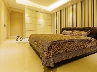 ,150平,7万,现代,三居,卧室,黄色,
