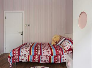 ,123平,16万,三居,现代,卧室,粉色,白色,