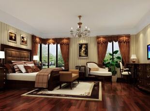 ,226平,37万,欧式,别墅,卧室,原木色,白色,