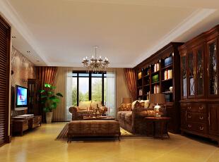 ,226平,37万,欧式,别墅,客厅,白色,原木色,