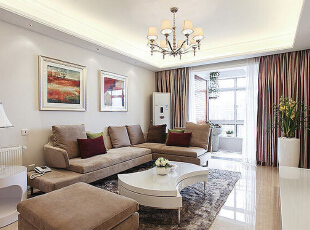 ,130平,10万,现代,三居,客厅,白色,
