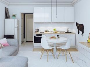 ,90平,9万,现代,两居,客厅,白色,