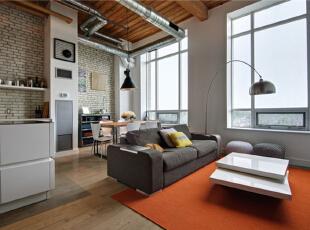 介于紧张的面积使用,在客厅和厨房的设计上,选择了开放式设计。二人的居室不需要太多的隔断,更多希望有空间上的视觉扩容感。,120平,10万,混搭,复式,客厅,原木色,