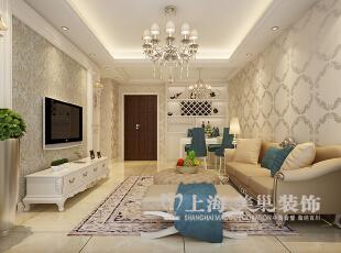 升龙又一城90平两室两厅简欧风格装修效果图——客厅装修效果图,90平,6万,欧式,两居,客厅,