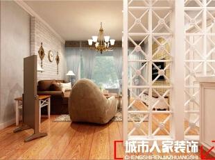 ,83平,7万,美式,两居,客厅,原木色,