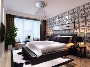 ,89平,9万,两居,现代,卧室,黑白,