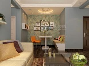 郑州国龙绿城怡园90平两室两厅现代简约装修效果图-客餐厅效果图,90平,3万,现代,两居,客厅,餐厅,黄色,绿色,