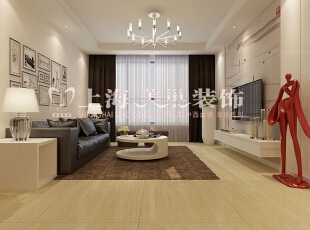 郑州天地湾89平三室两厅现代简约风格装修效果图-空调效果图,89平,3万,现代,三居,客厅,黑白,黄色,