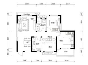 ,89平,3万,三居,现代,卧室,