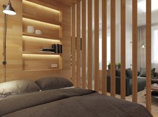 ,50平,5万,现代,一居,卧室,原木色,
