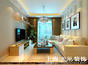 翰宇天悦装修130平方三室两厅客厅效果图---电视背景墙,客厅,黄色,
