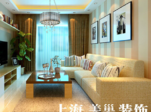 郑州翰宇天悦装修130平方三室两厅沙发墙效果图---客厅,客厅,黄色,