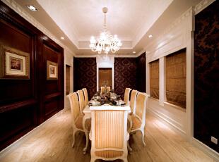 ,327平,40万,美式,别墅,餐厅,原木色,白色,