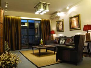 ,169平,35万,现代,四居,客厅,黑白,