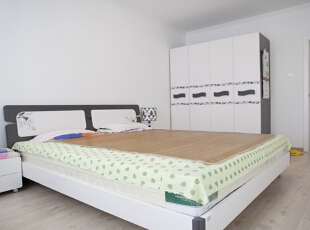 ,120平,15万,简约,两居,卧室,白色,