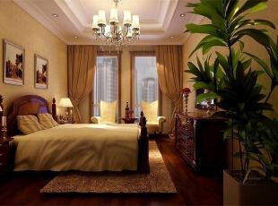 老人房:布局和主卧室一样,比较实用。,欧式,装修案例,王府壹号,王府壹号装修案例,卧室,黄色,